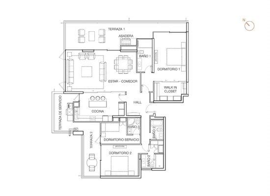 Tipo B1 (Op.1), 3 Dormitorios 188,90 m2