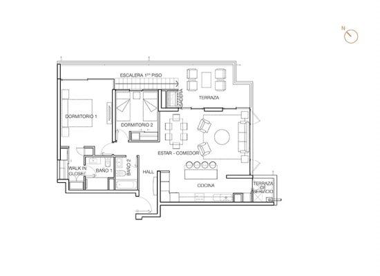 Tipo C3, 2 Dormitorios 150,89 m2