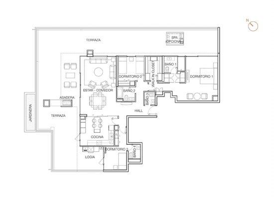 Tipo P1 (Op.4), 3 Dormitorios 269,61 m2