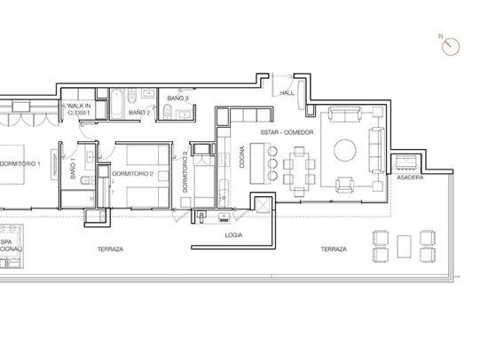 Tipo P4 (inv), 3 Dormitorios 180,55 m2